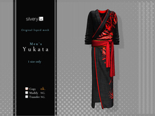 *:..Silvery K..:*Men's Yukata 2015(Mesh)Black