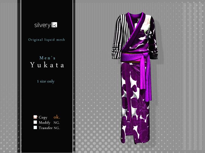 *:..Silvery K..:*Men's  Yukata 2015(Mesh)Purple