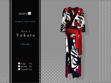 *:..Silvery K..:*Men's  Yukata 2015(Mesh)Red