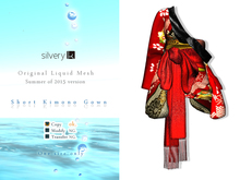 *:..Silvery K..:* Short Kimono Gown(Red)