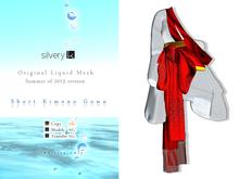 *:..Silvery K..:* Short Kimono Gown(white)