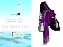 *:..Silvery K..:* Short Kimono Gown(Purple)