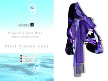 *:..Silvery K..:* Short Kimono Gown(Violet)