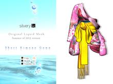 *:..Silvery K..:* Short Kimono Gown(Pink)