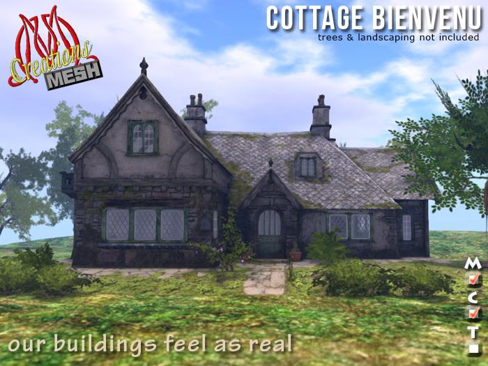 Cottage Bienvenu COPY MOD Mesh, english traditional cottage