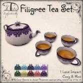 [DDD] Filigree Tea Set