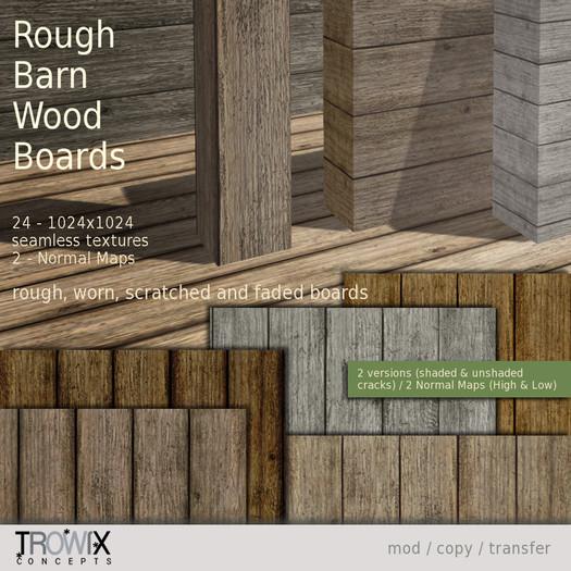Trowix - Rough Barn Wood Planks Textures