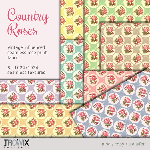 Trowix - Country Roses Textures