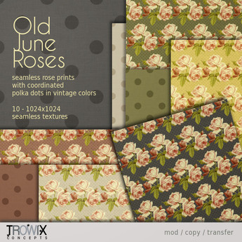 Trowix - Old June Roses Textures