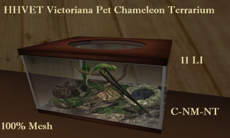 HHVET Victoriana Pet Chameleon Tank