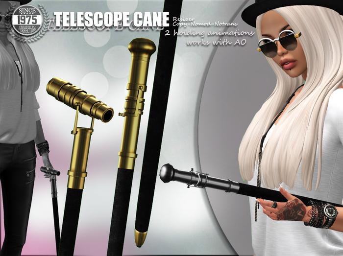 [Since 1975] - Telescope Cane (Silver)