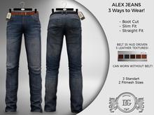 Daniel Grant-Alex Worn Blue Jeans (3 Styles)