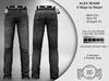 DEMO Daniel Grant Alex Worn Blue Jeans (3 Styles)