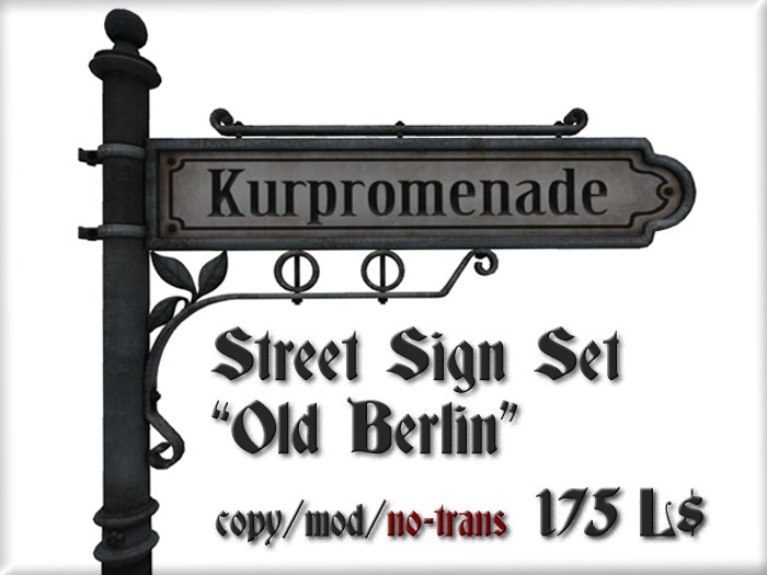 "Street Sign Set ""Old Berlin"""