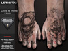 : Letis Tattoo : AESTHETIC : Love & Hate : Hands Tattoo