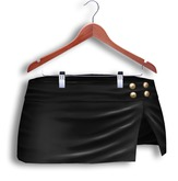 *Just BECAUSE* Laura Miniskirt (Black) - Belleza Venus/Isis/Freya, Maitreya Lara, Slink Physique, Standard Sizes