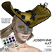 Wicca's Wardrobe - Josephine Hat [Gold] [BOXED]