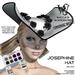 Wicca's Wardrobe - Josephine Hat [Silver] [BOXED]