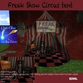 Mesh Freak Show Circus tent with props and sounds (box)