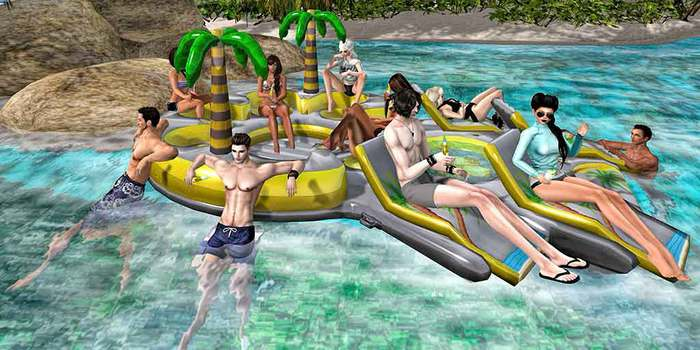 "Aphrodite Summer ""Fun Floating Island"" - 11 people/ friends Floater for sea or pool!"