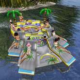 """Aphrodite """"Fun Floating Island - Family, babies & Kids"""" Floater"""