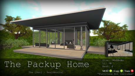 PackUP Home - The [Den.]  Residential 50% SALE