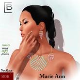 Baboom-MarieAnn-mesh EARRING/NECKLACE-3