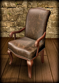 Louis XV Desk/Office texture change LEATHER Armchair MESH