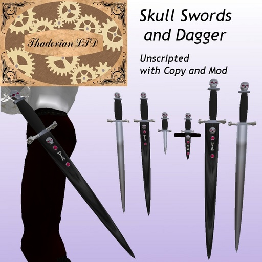 Thadovian LTD Skull Dagger and Swords - Full Set box