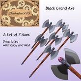 Thadovian LTD Black Grand Axe - Full Set box