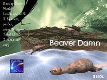 Beaver Damn 2 piece set Landscape Mesh