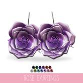 {MYNX} Rose Earrings - Large Drops