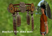While Dreams - indian- Bracelet for arms man_Ham native amerindien - While Swot