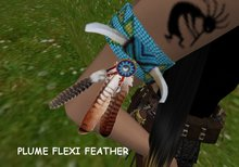 While Dreams - indian- Brassard (Cuff ) feather corn'turkoise - native amerindian - While Swot