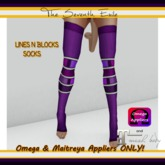 T7E - Lines N Blocks Socks: Purple - Omega & Maitreya Appliers