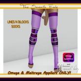 T7E - Lines N Blocks Socks: Lilac - Omega & Maitreya Appliers