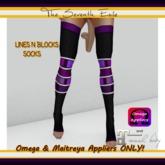 T7E - Lines N Blocks Socks: Black & Purple - Omega & Maitreya Appliers