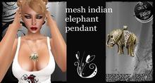 mesh indian elephant pendant