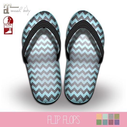 {MYNX} Chevron Flip Flops (Maitreya/ Slink)