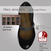 Orange*Pekoe - Shool mary janes for Slink & Maitreya - Black