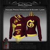Dark Passions - House Pride Sweater & Scarf Set - Lion - Mesh (5 Standard Sizes)