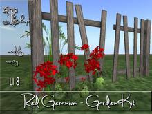 Red Geranium - Garden Kit MC