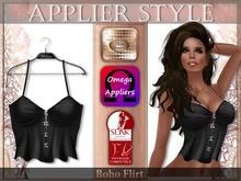 {SD} BOHO FLIRT TOP  - Black (Omega & Slink Appliers)