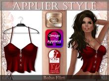 {SD} BOHO FLIRT TOP - Red (Omega & Slink Appliers)