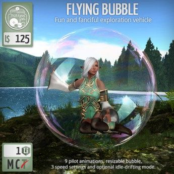 ButtonJar - Flying Bubble Single - MESH
