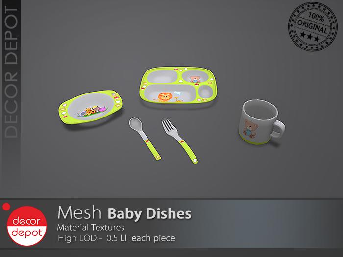 [DD] - FULL PERM  Baby Dishes