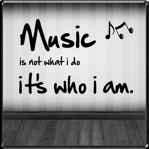 *~LT~* Music Is Not What I Do  Wall Art Decal