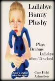 Brahms Lullabye Bunny Plushy-Blue