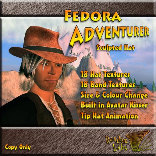 Fedora Adventurer v1.3 Sculpted Hat