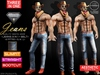 Ca aesthetic jeans blue 3 in 1